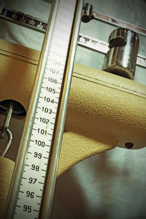 pediatric: measuring rod of an old Pediatric scales to measure the patients at the doctor