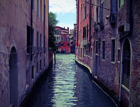 narrow navigable  channel of water in the city of Venice