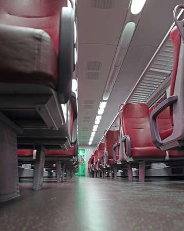go inside: train seat completely empty during the trip