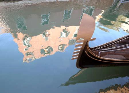 saint mark square: gondola on the water in venice italy near saint mark square