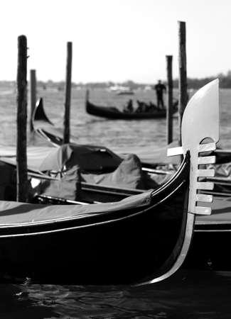saint mark square: gondolas on the water in venice italy near saint mark square