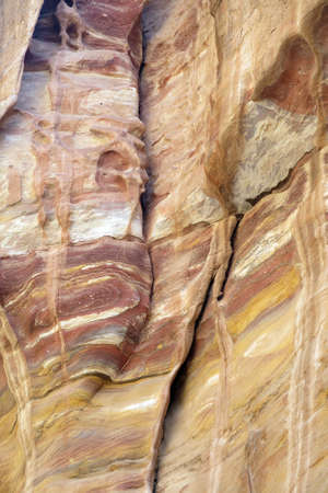 calcification: rock formation in the desert in the ancient city of Petra in Jordan