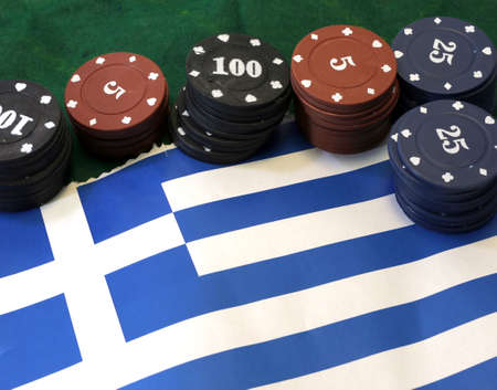 tokens: tokens for gambling over the flag of Greece