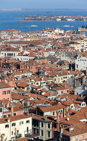 the campanile: Aerial view of Venice ITALY from St Marks Campanile