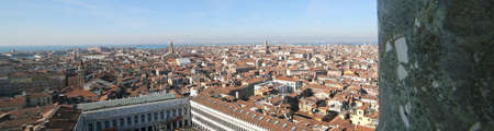 procuratie: Aerial view of Venice ITALY from St Marks Campanile