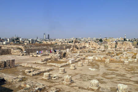 historian: Buildings of Amman Citadel in national historic site in Jordan