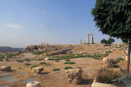 national historic site: Buildings of Amman Citadel hill in national historic site in Jordan