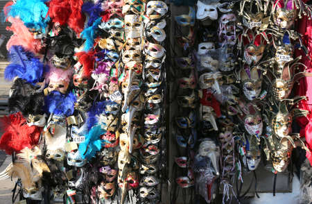 saint marks square: venice italy Saint Marks Square many maskes on sale