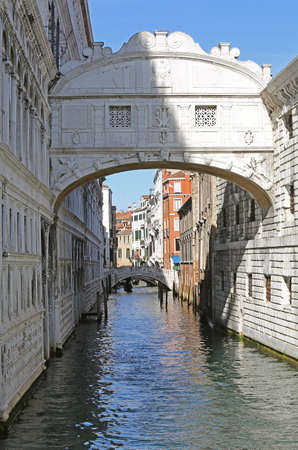 without people: bridge of sighs in Venice in Italy without people Stock Photo