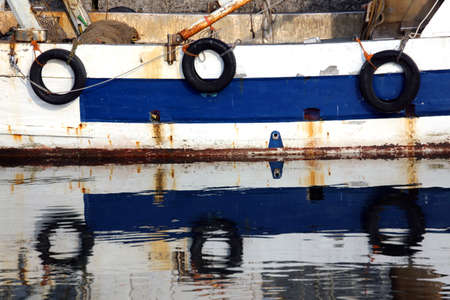 hull: three tires on fishing to protect the hull