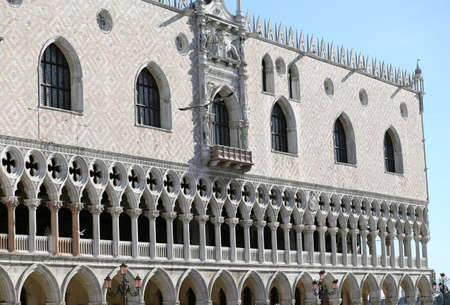 doge's palace: Detail of Doges Palace in Venice Italy Editorial