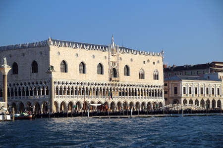 doges  palace: Doges Palace from the adriatic sea in Venice Editorial