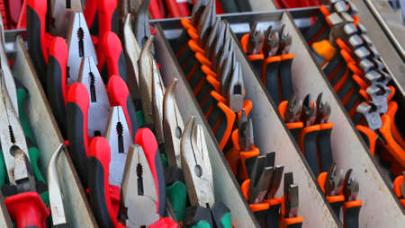 pliers, pincers and cutters for sale in hardware store