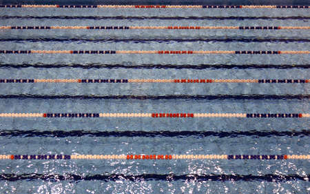 lane lines: swimming pool with lanes for swimming competitions