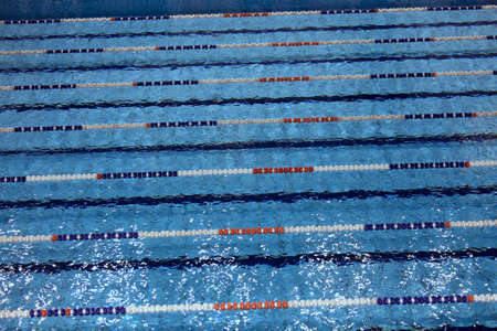 lane marker: many swimming pool with lanes for swimming competitions