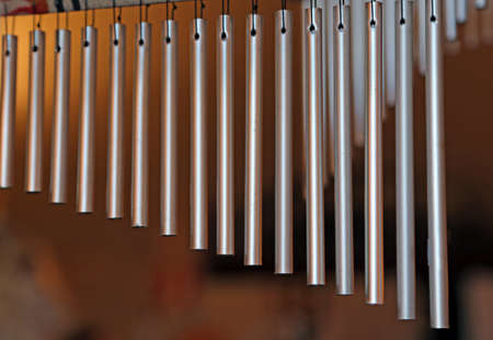 new age music: chime tree with steel tubes for relaxation and meditation