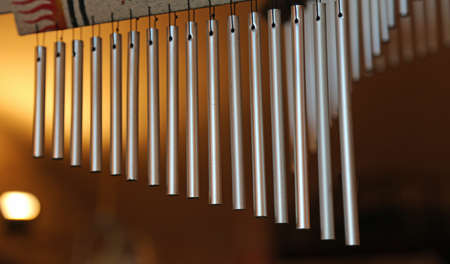 newage: wind chimes with steel tubes for relaxation and meditation