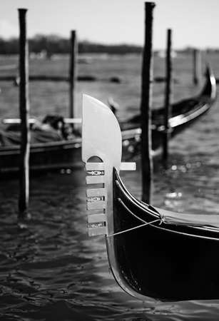 prow: detail of the prow of the Gondola in Venice in Italy Stock Photo