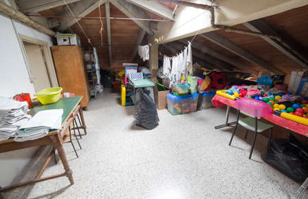 odds: old attic full of old games and odds and ends of kindergarten
