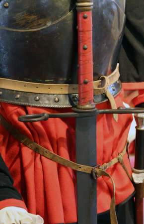 hilt: rare antique sword hilt of the King in a medieval castle