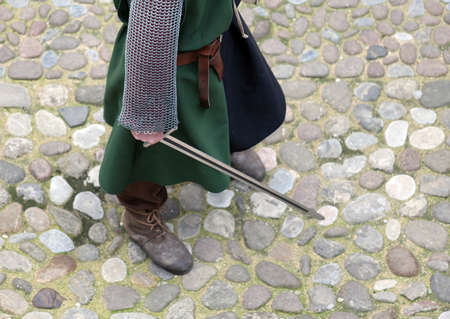 reenactment: medieval reenactment with costumed characters and ancient clothes