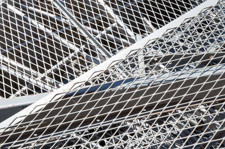 ferrous: grid iron and ferrous material in the landfill of metallic objects Stock Photo