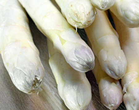 luscious: luscious white asparagus tips for sale from greengrocers in spring