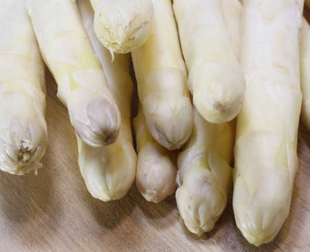 luscious: luscious mature white asparagus for sale from greengrocers in spring
