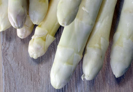 luscious: luscious mature white asparagus tips for sale from greengrocers in spring