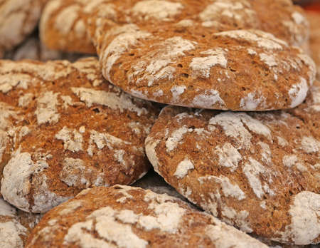 woodburning: genuine whole wheat bread baked in a wood-burning oven