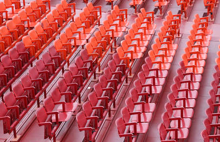many empty seats in the stands before the sporting event