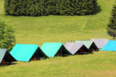 girl scout: Boyscout large tents