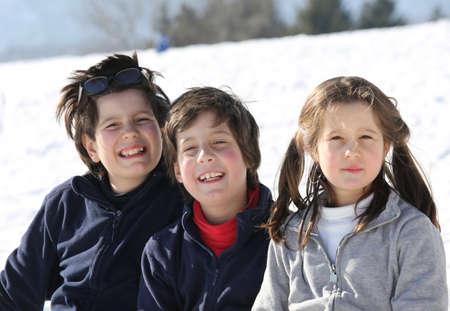 cousin: Portrait of smiling Caucasian three brothers