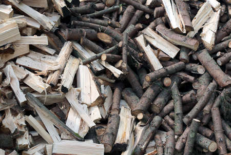 many pieces of wood to burn in the stove to keep warm during the cold winter