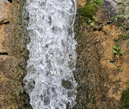 abundant: abundant fresh water jet of a waterfall Stock Photo