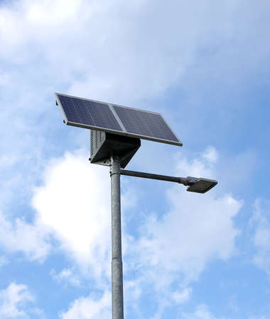 innovative: innovative solar Street lamp and the blue sky as background