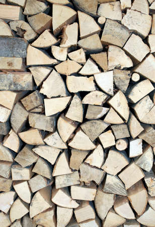 woodshed: wood of a Woodshed for ecological heating Stock Photo
