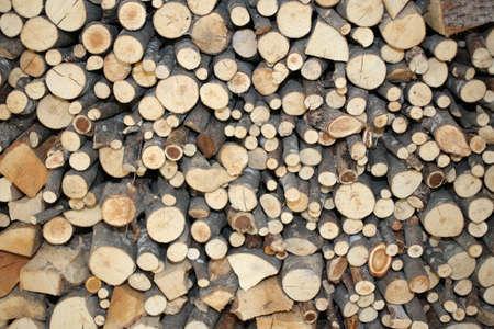 woodshed: background of wood of a Woodshed for ecological heating Stock Photo