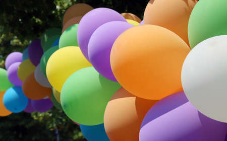 colorfu: colorful balloons during the birthday party of children