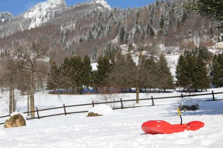 reb: bob reb para jugar en la nieve en las monta�as en invierno