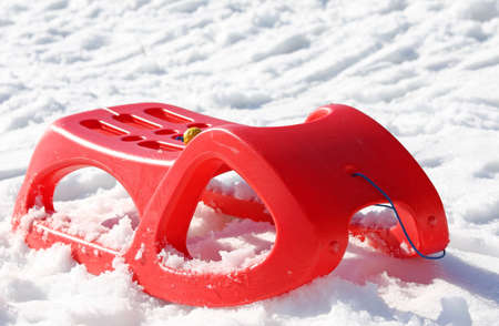 reb: reb sled for playing in the snow in winter