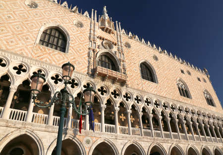 doge: architectural detail of Doge s Palace in Venice Italy