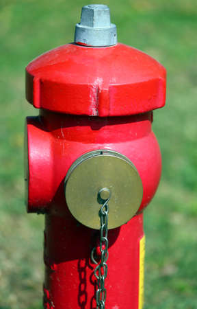 extinguish: big red fire hydrant to extinguish fires