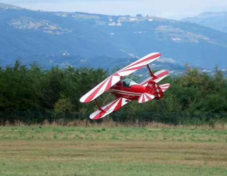 reckless: Thiene, Vicenza - Italy. 26th July, 2015: important air show called FlighThiene in Thiene Airport near Vicenza City in Northen Italy with many historical and modern airplanes