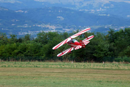 aviators: Thiene, Vicenza - Italy. 26th July, 2015: important air show called FlighThiene in Thiene Airport near Vicenza City in Northen Italy with many historical and modern airplanes