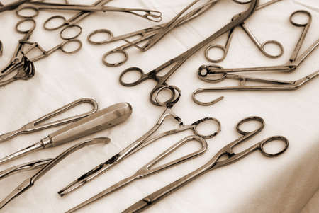 a war historian: rusted pliers scissors and other ancient medical instruments used during the world wars