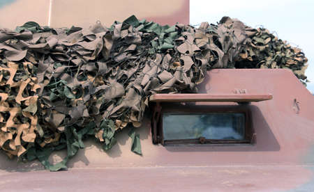armored truck: armored military truck with camouflage gear for war missions