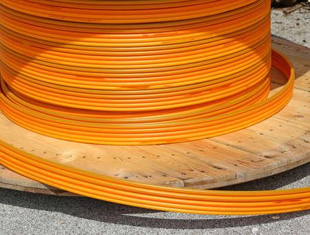 fiber optic lamp: long Orange pipes for fiber optic connection ADSL users