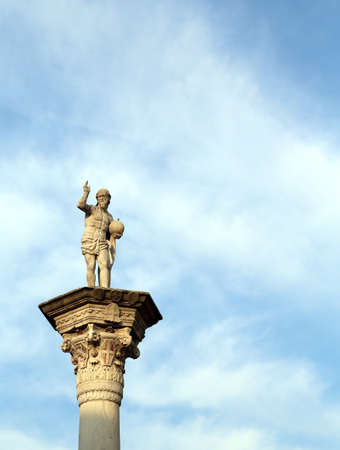 redeemer: statue of Jesus Redeemer with the world in your hand In Vicenza City VI Italy