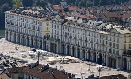 vittorio: great Square in turin City in Italy called Piazza Vittorio Veneto Stock Photo